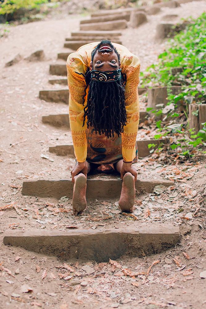 Yoga Pose Black Man Doing Yoga
